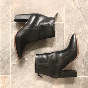 Loeffler Randall Black Leather Pointed Heeled Boot